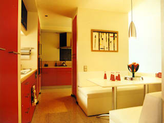 SERPİCİ's Mimarlık ve İç Mimarlık Architecture and INTERIOR DESIGN KitchenTables & chairs Komposit Kayu-Plastik Yellow