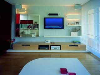 SERPİCİ's Mimarlık ve İç Mimarlık Architecture and INTERIOR DESIGN SoggiornoSupporti TV & Pareti Attrezzate PVC Bianco