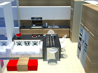 SERPİCİ's Mimarlık ve İç Mimarlık Architecture and INTERIOR DESIGN Cucinino PVC Variopinto