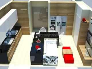 SERPİCİ's Mimarlık ve İç Mimarlık Architecture and INTERIOR DESIGN Cucinino PVC Effetto legno