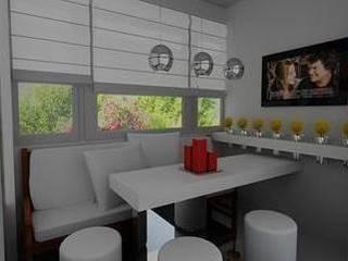 SERPİCİ's Mimarlık ve İç Mimarlık Architecture and INTERIOR DESIGN KitchenTables & chairs Komposit Kayu-Plastik White