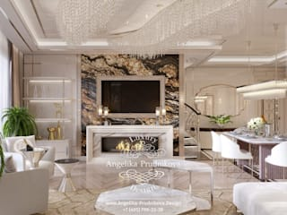 Living room by Дизайн-студия элитных интерьеров Анжелики Прудниковой, Classic