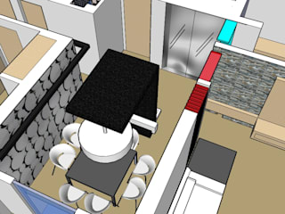 SERPİCİ's Mimarlık ve İç Mimarlık Architecture and INTERIOR DESIGN Dining roomAccessories & decoration Komposit Kayu-Plastik Multicolored