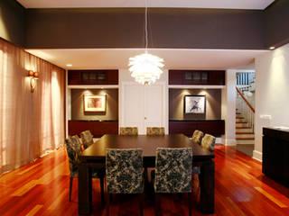 SERPİCİ's Mimarlık ve İç Mimarlık Architecture and INTERIOR DESIGN Sala da pranzoAccessori & Decorazioni PVC Marrone