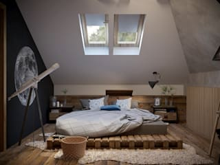 Industrial style bedroom by ARTWAY центр профессиональных дизайнеров и строителей Industrial