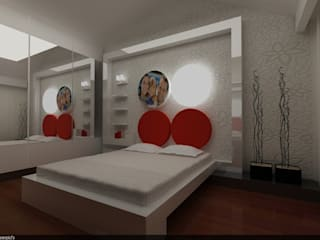 SERPİCİ's Mimarlık ve İç Mimarlık Architecture and INTERIOR DESIGN BedroomBeds & headboards Komposit Kayu-Plastik White