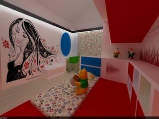 SERPİCİ's Mimarlık ve İç Mimarlık Architecture and INTERIOR DESIGN Stanza dei bambiniAccessori & Decorazioni PVC Rosso