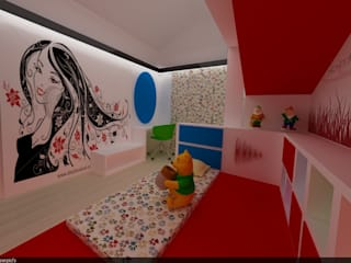 SERPİCİ's Mimarlık ve İç Mimarlık Architecture and INTERIOR DESIGN Nursery/kid's roomAccessories & decoration Komposit Kayu-Plastik Red