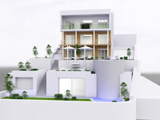 SERPİCİ's Mimarlık ve İç Mimarlık Architecture and INTERIOR DESIGN Rumah Modern Beton White