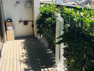 Balcony by 新綠境實業有限公司, Rustic