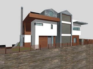 SERPİCİ's Mimarlık ve İç Mimarlık Architecture and INTERIOR DESIGN Rumah tinggal Komposit Kayu-Plastik Brown