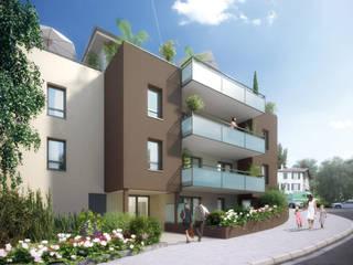 Création d'un immeuble d'habitations par selarl Marc RINUCCINI architecte