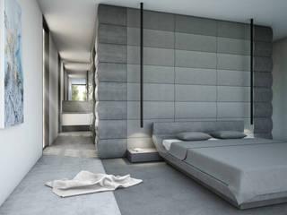 Bedroom Camera da letto minimalista di Aeon Studio Minimalista Marmo