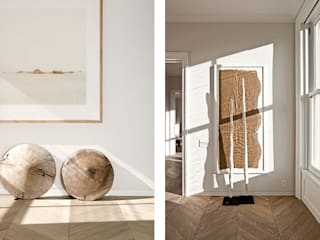 Apartment in Milan Ingresso, Corridoio & Scale in stile minimalista di Aeon Studio Minimalista