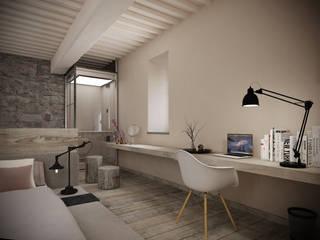 Master bedroom Camera da letto minimalista di Aeon Studio Minimalista Legno Effetto legno