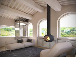 Living room Soggiorno minimalista di Aeon Studio Minimalista Legno Effetto legno