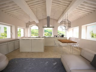 Kitchen Cucina minimalista di Aeon Studio Minimalista Legno Effetto legno