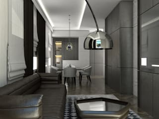 Private Apartment Soggiorno moderno di Aeon Studio Moderno