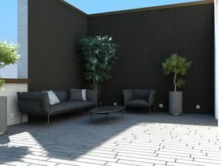 Jardines de estilo moderno de Aeon Studio Moderno Madera Acabado en madera