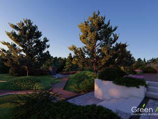 OGRÓD NATURALISTYCZNY WŚRÓD SOSEN Rustykalny ogród od Green Accent Rustykalny