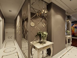 Classic corridor, hallway & stairs by STUDIO DESIGN КРАСНЫЙ НОСОРОГ Classic