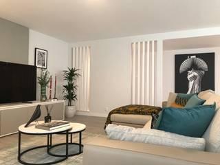 Projecto AO Salas de estar modernas por Tangram Studio Moderno