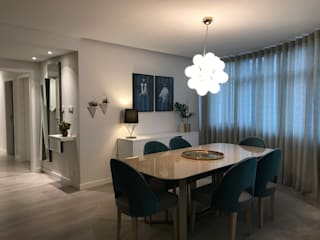 Projecto AO: Salas de jantar  por Tangram Studio,Moderno