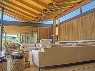 Gestão de Obra | Casa – Fazenda Boa Vista Salas de estar minimalistas por LAF Construction Management Minimalista