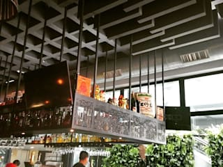 Reducción de eco en restaurante Balcones y terrazas modernos de Visual Acoustic México Moderno
