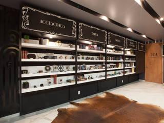 Boutique de Arquitectura ¨Querétaro [Sonotectura+Refaccionaria] Рабочий кабинет в стиле модерн Кирпичи Белый