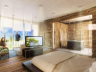 Boutique de Arquitectura ¨Querétaro [Sonotectura+Refaccionaria] Дома на одну семью Бетон Эффект древесины