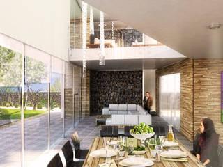 Boutique de Arquitectura ¨Querétaro [Sonotectura+Refaccionaria] Маленькие дома Бетон Белый