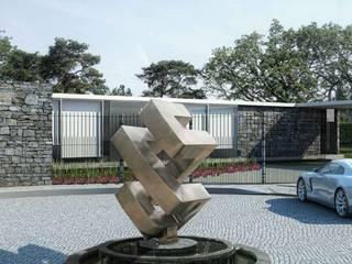 Boutique de Arquitectura ¨Querétaro [Sonotectura+Refaccionaria] Дома в стиле минимализм ДПК Белый