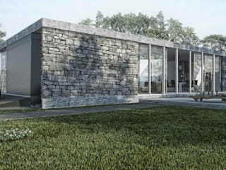 Boutique de Arquitectura ¨Querétaro [Sonotectura+Refaccionaria] Загородные дома Железобетон Белый