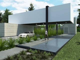 Boutique de Arquitectura ¨Querétaro [Sonotectura+Refaccionaria] Дома на одну семью Гранит Белый