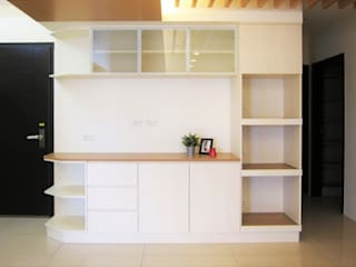 Salon minimaliste par ISQ 質の木系統家具 Minimaliste