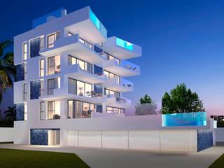 Barreres del Mundo Architects. Arquitectos e interioristas en Valencia. Minimalist house Ceramic White
