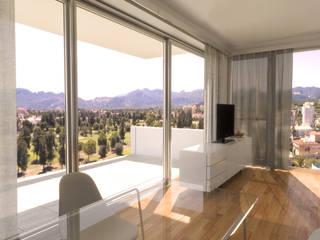Barreres del Mundo Architects. Arquitectos e interioristas en Valencia. Modern Living Room Wood White