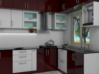 3 BHK flat interiors: modern  by Dezicorp Architects & Interiors,Modern