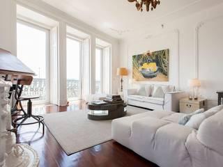 Apartamento em Lisboa Salas de estar modernas por Hugo Covaneiro Interior Design Moderno