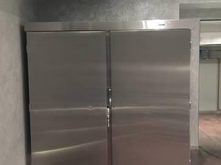 Холодильник из нержавеющей стали с выносным холодильным блоком. Вместимость 10 шуб. Beauty&Cold ГардеробнаяХранение Металлический / Серебристый