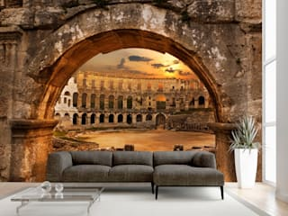 Mobili a Colori Eclectic walls & floors Rubber Brown