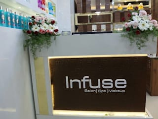 Interior design and decoration for Salon Infuse in Hyderabad by Sharma Interiors