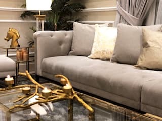Toronto & Dubai Homes Ruang Keluarga Modern Oleh DeeDecors Home Staging & Interior Design Modern
