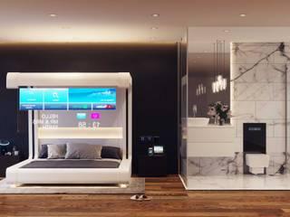 856-01-Futuristic Mock up Hotel Room by ID STUDIO DESIGN Modern
