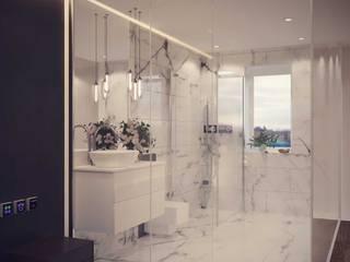 856-01-Futuristic Mock up Hotel Room Modern Bathroom by ID STUDIO DESIGN Modern