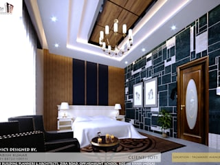 interior design of a bed room: classic  by KAILASH BUILDING PLANNERS AND ARCHITECTS,Classic