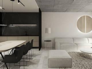 Salas de estar minimalistas por TIKA DESIGN Minimalista