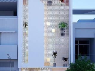 Nhà phố hiện đại mặt tiền đẹp: hiện đại  by VIỆT ARCHITECT, Hiện đại