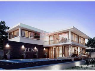 Biệt thự 2 tầng hiện đại có hồ bơi bởi VIỆT ARCHITECT Hiện đại